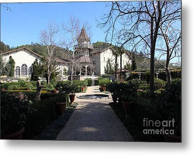 Chateau St. Jean Winery 5d22206 Metal Print by Wingsdomain Art and Photography