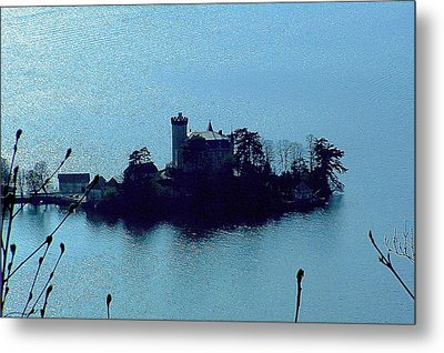 Chateau Sur Lac Metal Print by Marc Philippe Joly