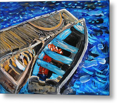 Metal Print featuring the painting Chatham Blue by Michael Helfen