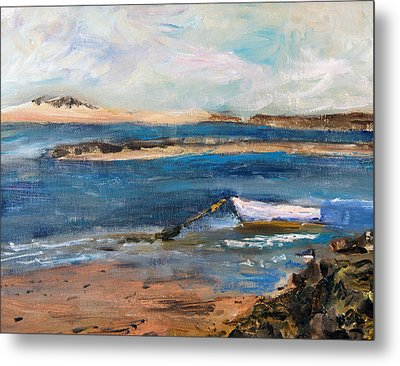 Chatham Boat In The Cove Metal Print by Michael Helfen