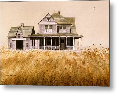 Metal Print featuring the painting Chatham Derelict by Karol Wyckoff