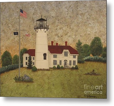 Chatham Light Metal Print by Becky Humbarger