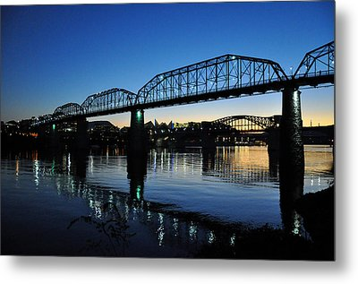 Tennessee River Bridges Chattanooga Metal Print