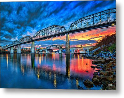 Chattanooga Sunset 3 Metal Print