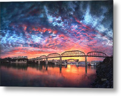 Chattanooga Sunset 4 Metal Print