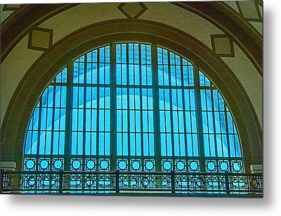 Metal Print featuring the photograph Chattanooga Train Depot Stained Glass Window by Susan  McMenamin
