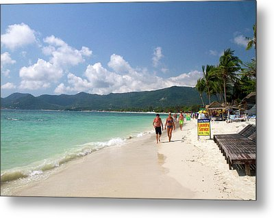 Chaweng Beach And The Gulf Of Thailand Metal Print