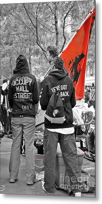 Metal Print featuring the photograph Che At Occupy Wall Street by Lilliana Mendez