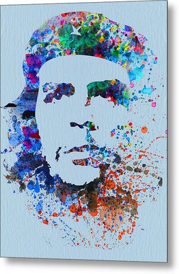 Che Guevara Watercolor Metal Print by Naxart Studio