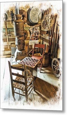 Checkers At The General Store Metal Print by Kenny Francis