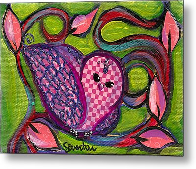 Checkers Birdy Metal Print by Shelley Overton