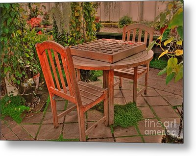 Checkers Metal Print by Kathleen Struckle