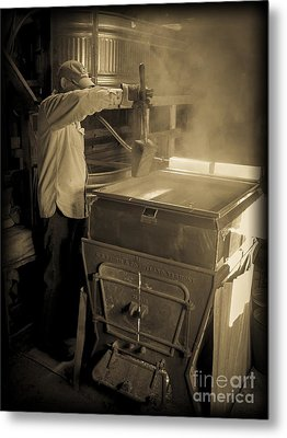 Checking The Maple Syrup Metal Print by Edward Fielding