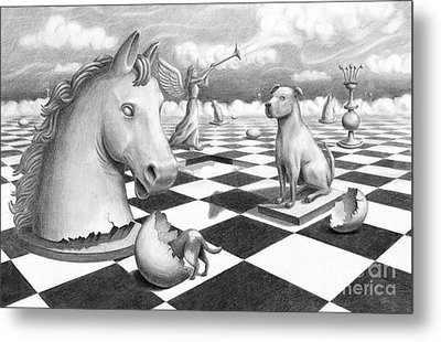 Checkmate Metal Print by Denise M Cassano