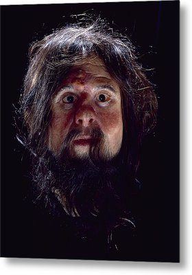 Cheddar Man Reconstruction Metal Print by Science Photo Library