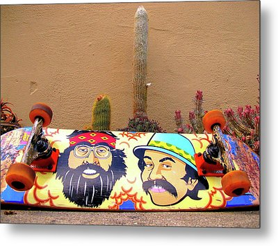 Metal Print featuring the photograph Cheech N Chong  by John King