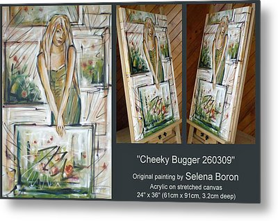 Metal Print featuring the painting Cheeky Bugger 260309 Comp by Selena Boron