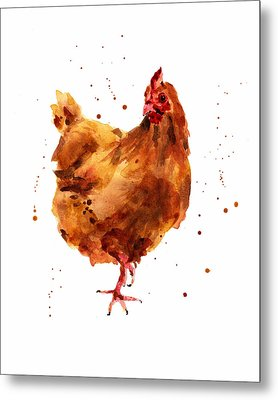 Cheeky Chicken Metal Print