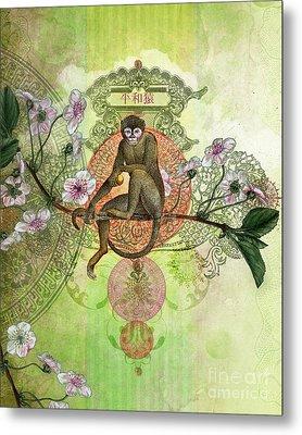 Cheeky Monkey Metal Print by Aimee Stewart