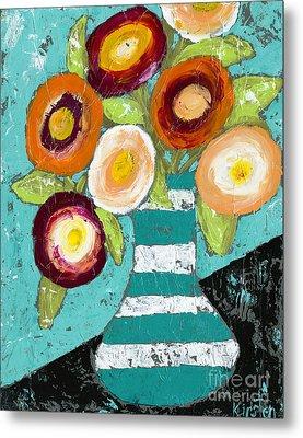 Cheerful Blooms Metal Print by Kirsten Reed