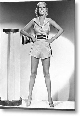 Cheerleader Betty Grable Metal Print