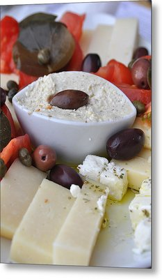 Cheese And Olives Metal Print by Kathy Schumann