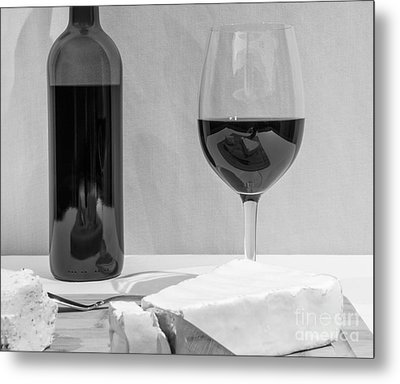 Cheese And Wine Cliche Metal Print