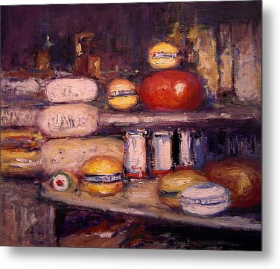 Cheese Shop Window Metal Print by R W Goetting