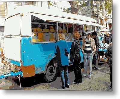 Cheese Van Metal Print by Tg Devore