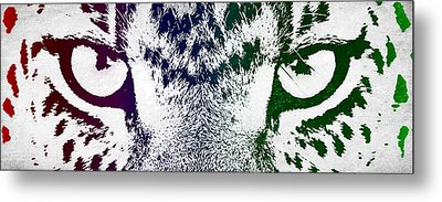 Cheetah Eyes Metal Print by Aged Pixel