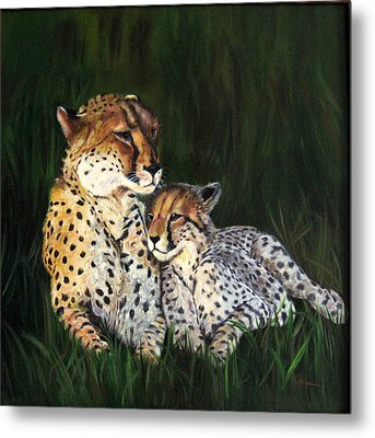 Cheetahs Metal Print by LaVonne Hand