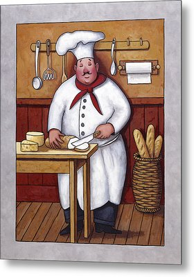 Chef 3 Metal Print by John Zaccheo
