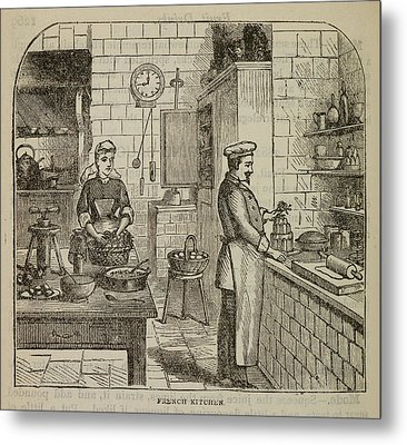 Chef At The Stove Metal Print by British Library