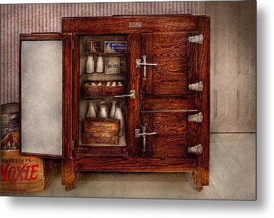 Chef - Fridge - The Ice Chest  Metal Print by Mike Savad