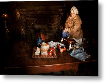 Chef - Kitchen - Today's Menu  Metal Print by Mike Savad