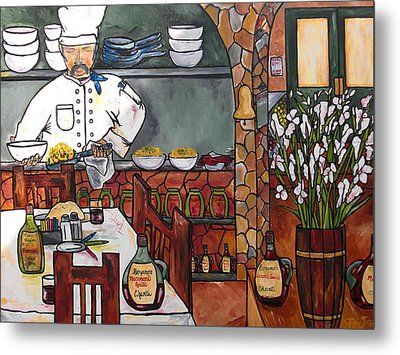 Chef On Line Metal Print by Patti Schermerhorn