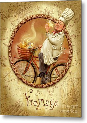Chefs On Bikes-fromage Metal Print