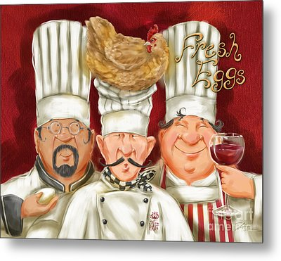 Chefs With Fresh Eggs Metal Print