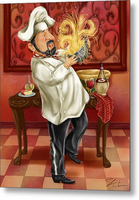 Chefs With Wine IIi Metal Print