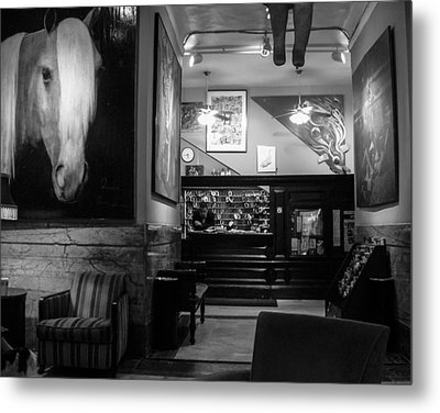 Chelsea Hotel Night Clerk Metal Print