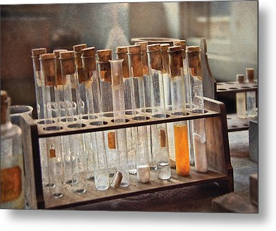 Chemist - Specimen Metal Print by Mike Savad