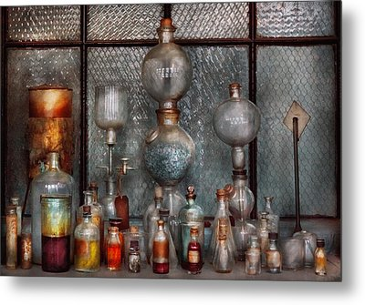 Chemist - The Apparatus Metal Print by Mike Savad