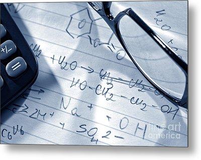 Chemistry Formulas Metal Print