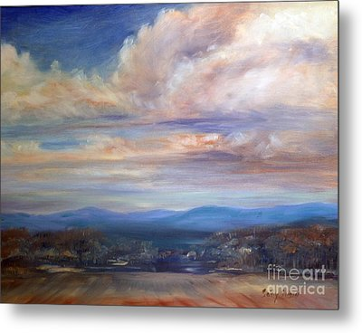 Metal Print featuring the painting Chenango River Valley by Sally Simon
