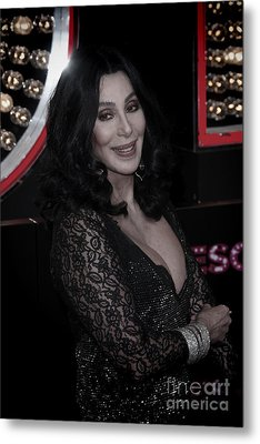 Cher Metal Print by Nina Prommer