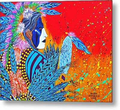 Cherokee Dancer Metal Print