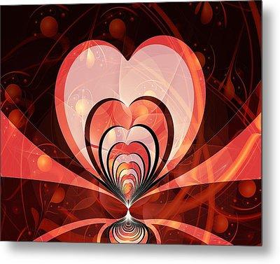 Cherries And Hearts Metal Print by Anastasiya Malakhova