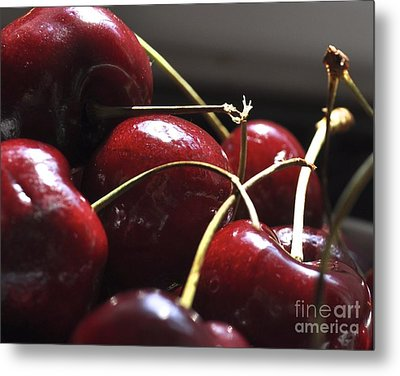 Cherries Close Up Metal Print