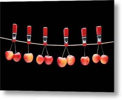 Metal Print featuring the photograph Cherries by Krasimir Tolev