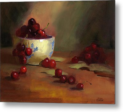 Cherries Metal Print by Susan Thomas